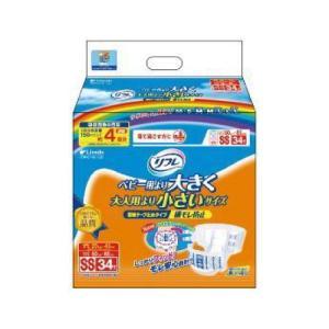大人用紙おむつ 介護用紙パンツ リフレ 簡単テープ止めタイプ 横モレ防止 SSサイズ 34枚入り 1袋|harika-gift