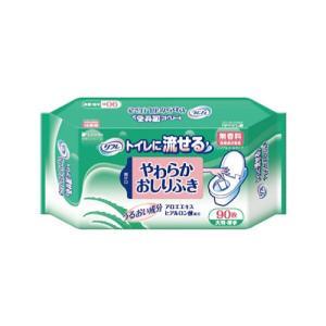 清拭タオル リフレ トイレに流せるやわらかおしりふき 90枚入り 1袋|harika-gift