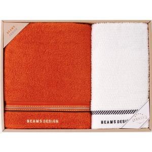 ビームス デザイン 〈ラインドット〉 バスタオル、フェイスタオル SE-9-73-9 オレンジ