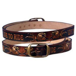 Live To Ride エンボスレザーベルト(イーグル)