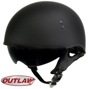 バイク ヘルメット ハーフヘルメット 黒 ブラック 米国ホッ...