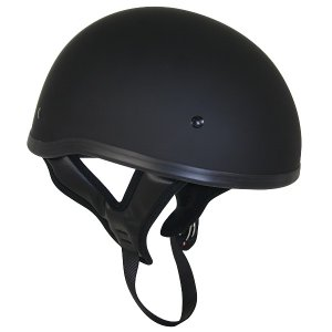 バイク ハーフヘルメット【マットブラック 黒】半ヘル 米国OUTLAW社製 DOT規格 T68 ヘルメット ハーレーダビッドソン乗り愛