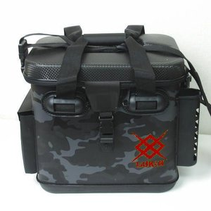 自立ハードボディ ロッドスタンド2本 インナーケース EVAタックル用バッグ 33cm ブラックカモ|haroweb2