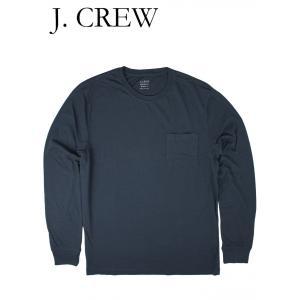 ジェイクルー Tシャツ 長袖 ポケット付き ロングスリーブ J.CREW ネイビー hartleystore