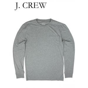 ジェイクルー Tシャツ 長袖 ポケット付き ロングスリーブ J.CREW グレー hartleystore