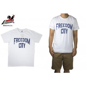 Bantam FREEDOM CITY Tシャツ アメリカ独立記念 半袖 バンタム ホワイト hartleystore