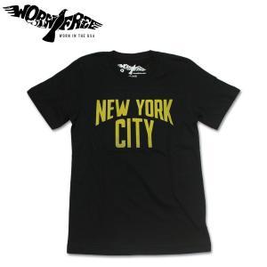 WORN FREE ウォーンフリー Tシャツ ニューヨークシティ ジョン・レノン ロック John Lennon NEW YORK CITY ブラック hartleystore
