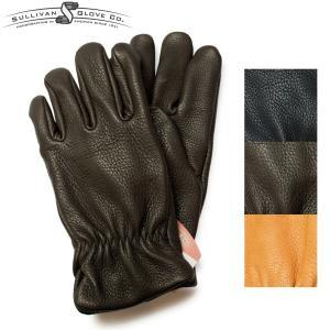サリバングローブ レザーグローブ 手袋 ディアスキン SULLIVAN GLOVE THE SIERRA DEERSKIN アメリカ製 ブラック|hartleystore