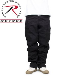 ROTHCO ロスコ ミリタリー カーゴパンツ RIP-STOP BDU PANT ブラック|hartleystore
