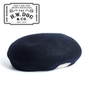 THE H.W.DOG&CO. ドッグアンドコー ウール ベレー帽 ネイビー hartleystore