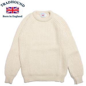 TRADHOUND アルパカ ウール クルーネックセーター イギリス製 トラッドハウンド アラン|hartleystore