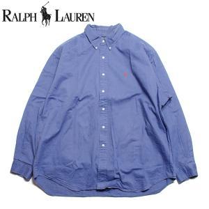 ラルフローレン Ralph Lauren 長袖 ボタンダウンシャツ 大きいサイズ ブルー|hartleystore
