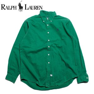 ラルフローレン Ralph Lauren 長袖 ボタンダウンシャツ 大きいサイズ グリーン|hartleystore