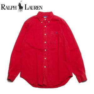 ラルフローレン Ralph Lauren 長袖 ボタンダウンシャツ クラシックフィット レッド|hartleystore