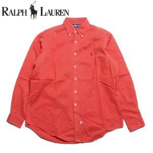ラルフローレン Ralph Lauren 長袖 ボタンダウンシャツ レッド|hartleystore