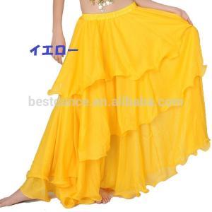 ベリーダンス シフォン 3段 フレアー スカート 全8色|harui|06
