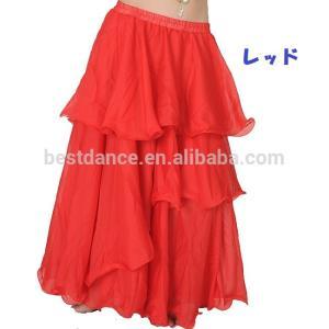 ベリーダンス シフォン 3段 フレアー スカート 全8色|harui|07