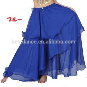 ベリーダンス シフォン 3段 フレアー スカート 全8色|harui|02