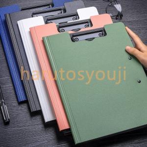クリップボードA4二つ折りバインダーフォルダーファイル書類入れ手形領収書ホルダ多機能フォルダークリッ...