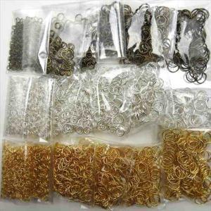 ・手作りアクセサリーの基礎パーツ、丸い形の金具で様々なパーツと接続します。ネックレス、ブレスレット、...