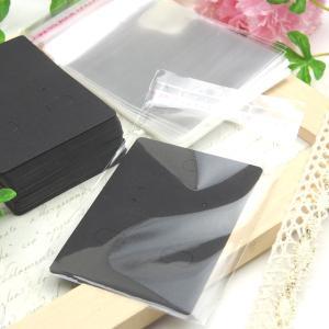 全3色/ピアス台紙+OPP袋50枚セット 50mm×70mm/アクセサリー イヤリング 台紙 ラッピング/白 黒 茶|haruzakka|04