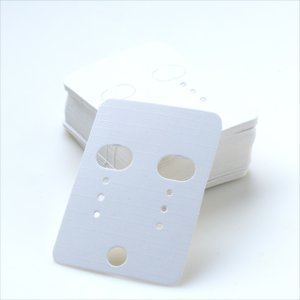 全3色/ピアス台紙+OPP袋50枚セット 40mm×55mm/アクセサリー イヤリング 台紙 ラッピング/白 黒 茶|haruzakka|06