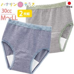 日本製 尿漏れパンツ 失禁パンツ 中失禁 30cc 2枚組 備長炭 M.L.LL 介護 下着 パッド パット 妊娠後 産後 レディース 婦人|hashbaby