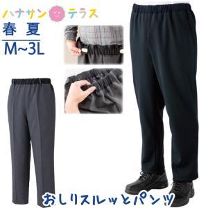 日本製 おしりスルッとパンツ 春夏 M L LL 3L シニアファッション 高齢者 服 引き上げやすい  男性 北海道・沖縄・離島は送料無料対象外|hashbaby