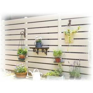DIY用 樹脂フェンス 木目調 アルファウッド 外構フェンスセット W4000×H1800 送料無料|hashibasangyo|02