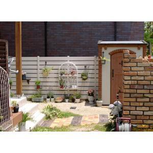 DIY用 樹脂フェンス 木目調 アルファウッド 外構フェンスセット W4000×H1800 送料無料|hashibasangyo|04