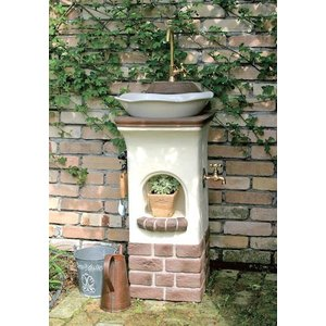 水栓柱・立水栓 スタンドウォッシュ リリー+蛇口&補助蛇口付き 送料無料|hashibasangyo|02