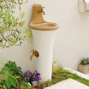 立水栓 スタンドウォッシュ カラー+蛇口&補助蛇口付き 送料無料|hashibasangyo