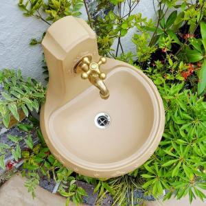 立水栓 スタンドウォッシュ カラー+蛇口&補助蛇口付き 送料無料|hashibasangyo|04