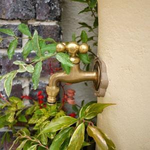 立水栓 スタンドウォッシュ カラー+蛇口&補助蛇口付き 送料無料|hashibasangyo|05