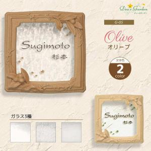 表札 ガラスコレクションG-05 フレームアートシリーズ文字色2色 送料無料|hashibasangyo
