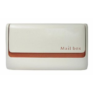ポスト メールボックス モコ-U メロウオレンジ エクセレントブラウン 埋め込みポスト ディーズガーデンの郵便受け 送料無料|hashibasangyo