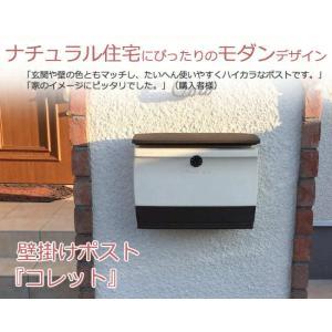 ポスト 郵便ポスト ダイヤル錠付き コレット ディーズのおしゃれポスト壁掛け|hashibasangyo