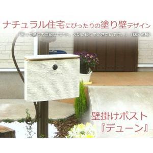 ポスト 郵便ポスト ダイヤル錠付き デューン ディーズガーデンの洋風ポスト・メールボックス壁掛けタイプ|hashibasangyo