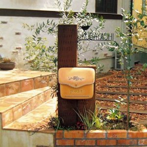 おしゃれ 郵便ポスト 壁付けポスト ポーチ 南欧の陶器風ポスト 送料無料|hashibasangyo|05