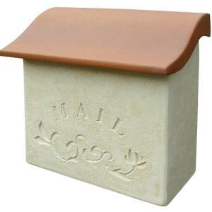ポスト メールボックス スタッコ  ディーズガーデンの洋風Mail box 壁掛け郵便受け Post 送料無料|hashibasangyo|02