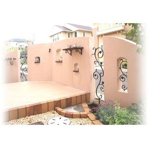 アールフィックスフェンス Mサイズ 壁を飾るガーデン・オーナメント アルミ鋳物製 送料無料|hashibasangyo|06