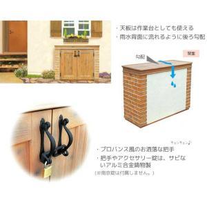 おしゃれ物置 ・カンナミニ ディーズガーデンの小型物置 送料無料|hashibasangyo|05