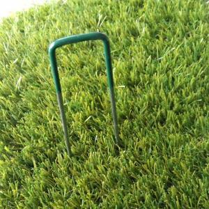 人工芝マット用 U字釘 ピンタイプ グリーンの樹脂膜付き|hashibasangyo|03