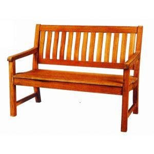 ガーデンベンチ・ガーデン家具 チーク材ラウンドハウスベンチ120(オイル加工なし)|hashibasangyo