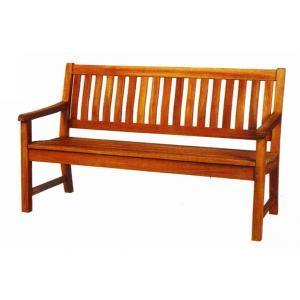 ガーデンチェア チーク材ラウンドハウスベンチ150(オイル加工なし)|hashibasangyo