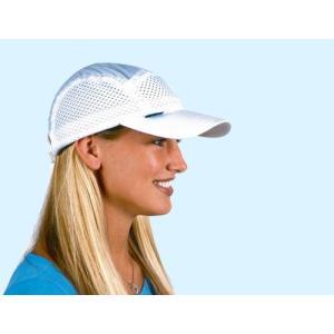 メール便で送料無料 頭部冷却 ひえひえクールキャップ ホワイト アメリカ製暑さ対策ひんやり帽子|hashibasangyo
