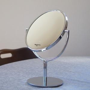 卓上鏡 プルーマ チューリップ 3倍拡大鏡 高級な真鍮製卓上ミラー 化粧鏡シェービングミラー 送料無料 hashibasangyo 04