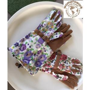 ガーデングローブ フローラルアーム 手袋|hashibasangyo|05