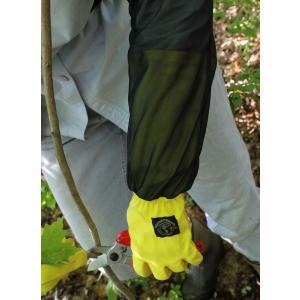 ガーデングローブ 防虫対策 グローブ、虫よけ腕カバー付女性専用手袋|hashibasangyo|03