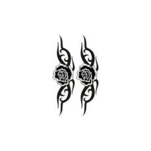 タトゥーシール【ミニサイズ (5×9cm)】 トライヴ黒薔薇(タトゥー ミニ TATOO シール フ...